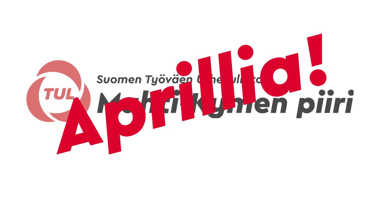 Mahti-Kymen logon päällä on aprillia teksti