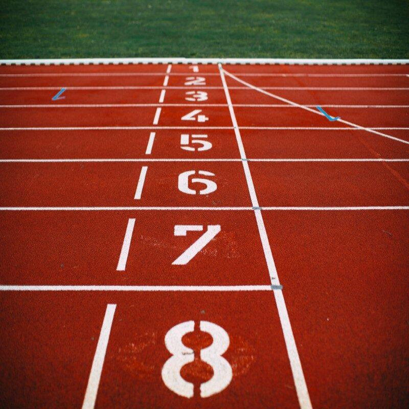 Retki olympiastadionille. Juoksuradan maali.