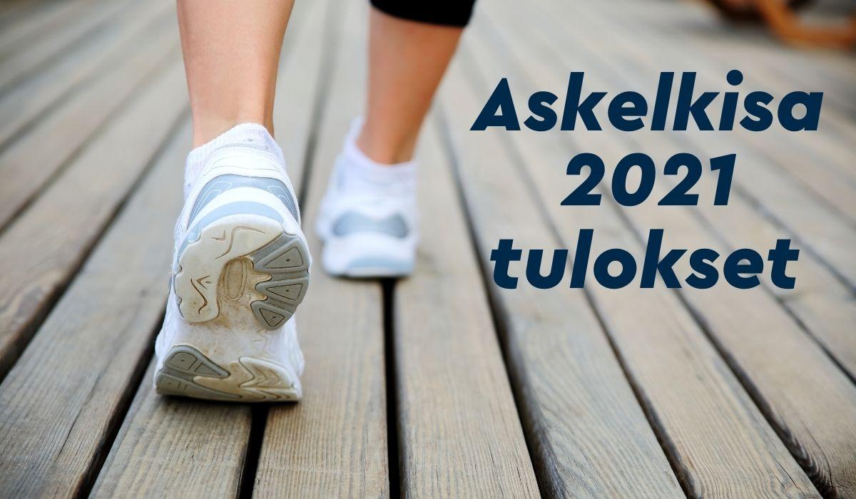 Askelkisa 2021 tulokset. kuvassa kävelijän jalat takaapäin.